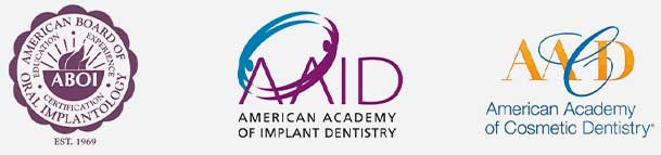 American Board of Implantology - American Academy of Implant Dentistry - Ammerican Academy of Cosmetic Dentistry